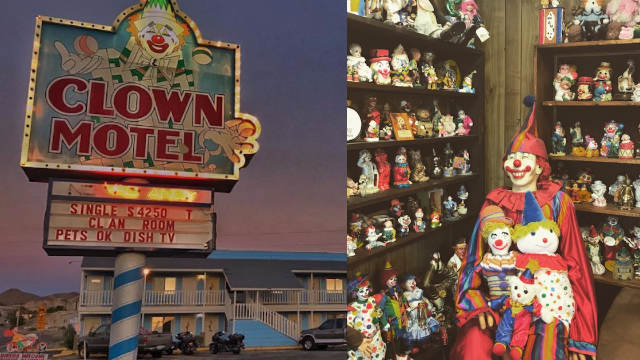 Terrifying clown motel for sale! There's only one condition.