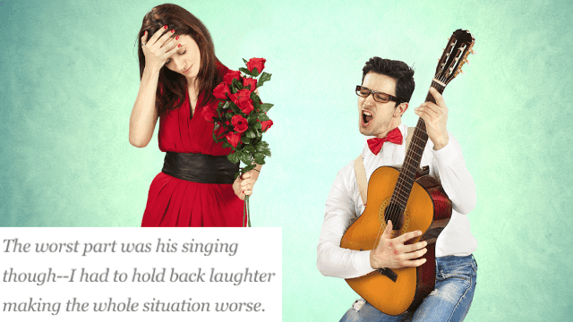 10 cringeworthy attempts at romantic gestures. Don't ever sing in public.