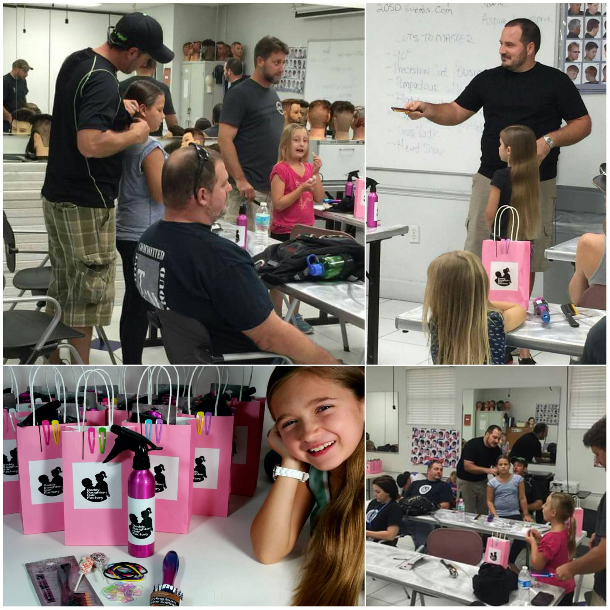 A dad started classes for men to learn to do their daughters' hair. The response was huge.