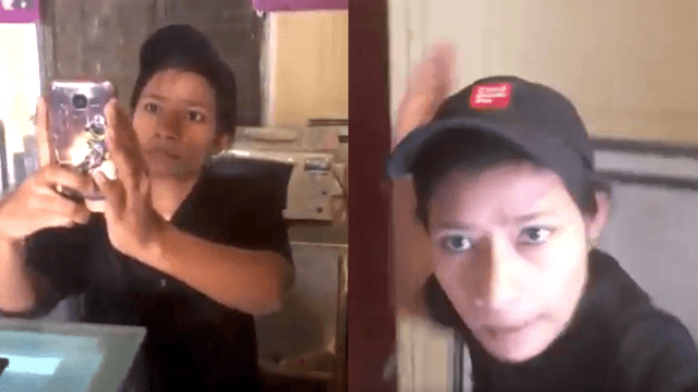 Customer tries to film cockroaches in café and gets slapped by employee in viral video.