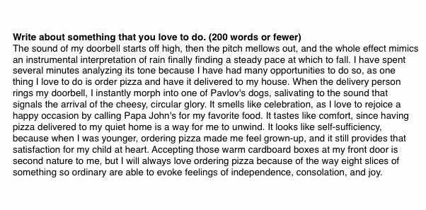 Girl's love of pizza gets her into Yale.