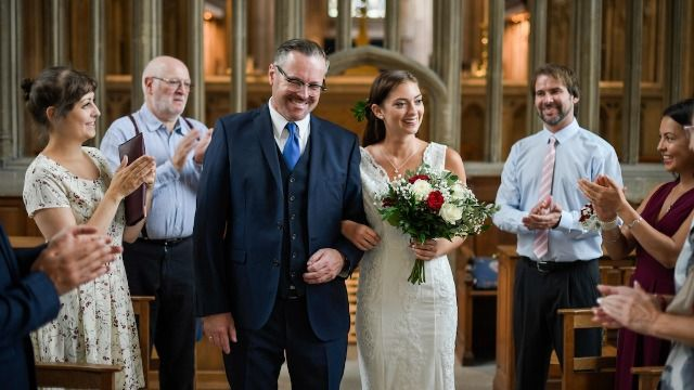 Dad asks if he's wrong to walk daughter he just met down aisle after stepdad protests.