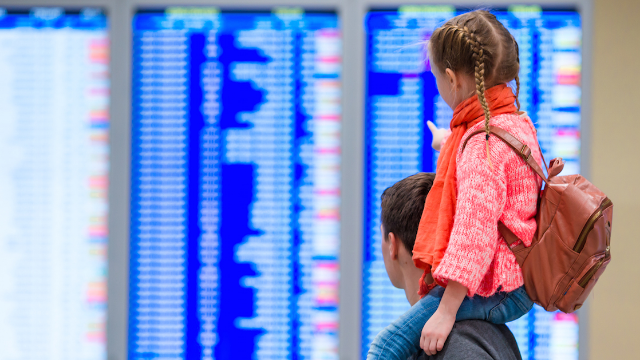 This viral video of a dad dragging his daughter around an airport is not what it seems.