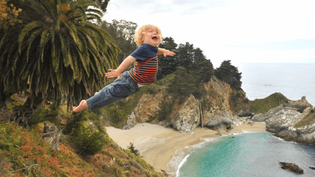 Artsy dad uses Photoshop skills to make his son with Down syndrome fly like a superhero.