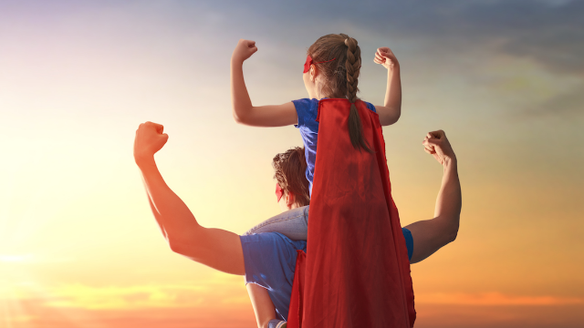 Superhero dad had the best comeback when a troll called his 6-year-old daughter a lesbian.