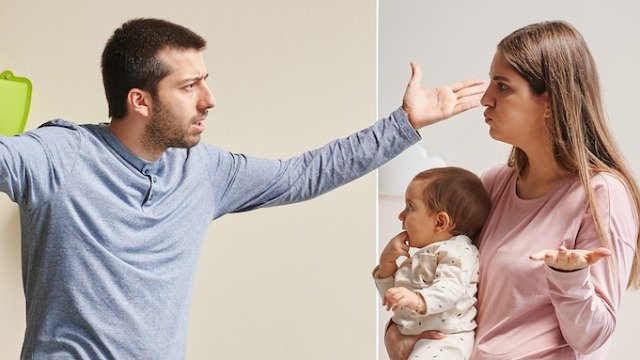 Dad asks if he's wrong to be angry with his wife for always talking about their 8-month-old baby.