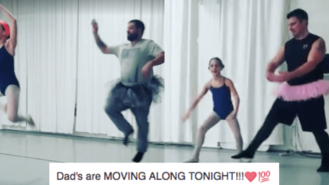 Dads dance ballet with their daughters on Valentine's Day and the internet can't even.