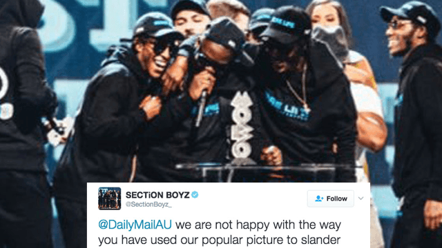 UK rappers call out Daily Mail for using their picture as a stock photo of a gang.