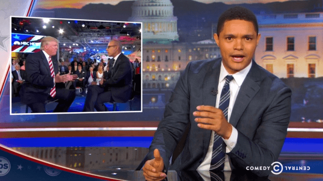 'The Daily Show' was back to its old self as Trevor Noah ripped Matt Lauer for not doing his job.