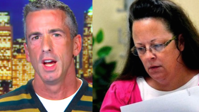 Sex columnist Dan Savage knows why Kim Davis won't issue marriage licenses to gay couples.