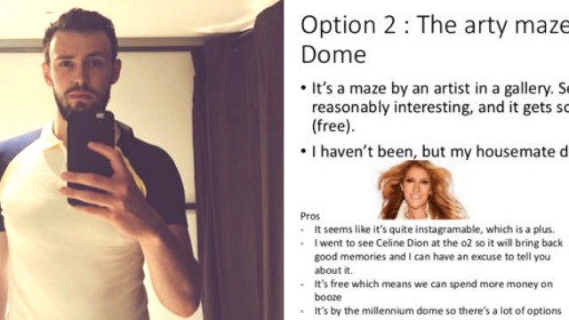 Guy over-prepares for first date with cute slideshow of ideas. It didn't go well.