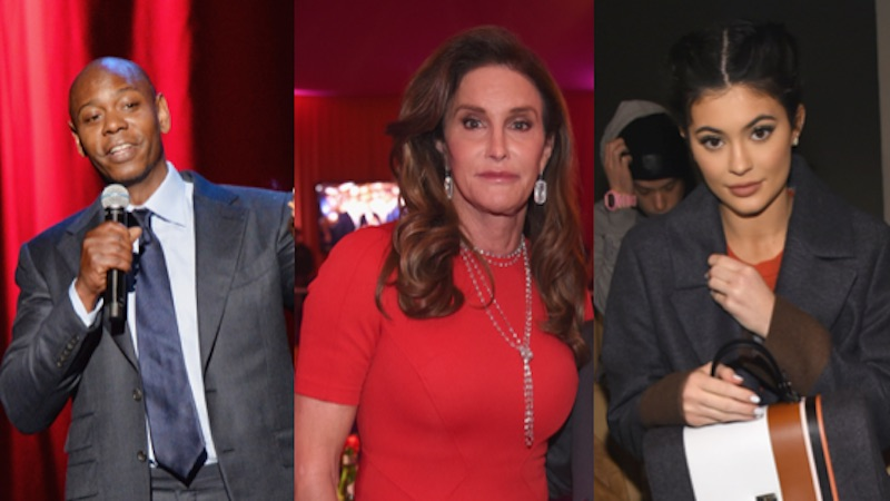 Dave Chappelle made fun of Caitlyn Jenner, made it very awkward for Kylie in the crowd.