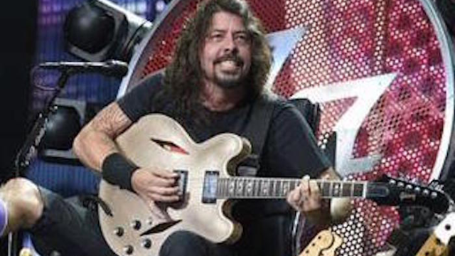 Dave Grohl performed on a heavy metal wheelchair throne on the 4th of July.