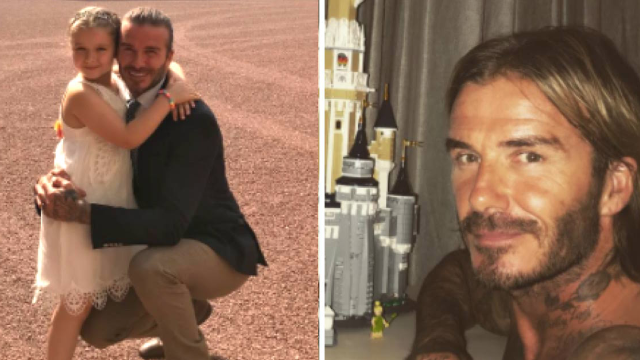 David Beckham spent a week building his daughter a Lego castle and has the pics to prove it.