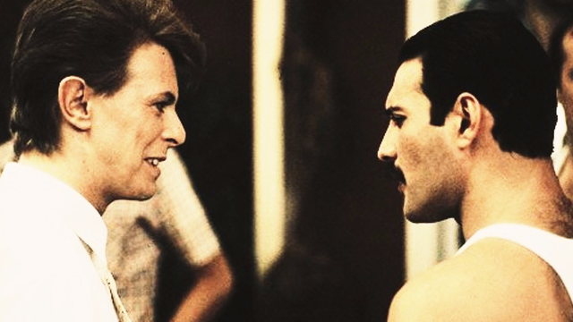 Finally, an a capella duet of David Bowie and Freddie Mercury singing 'Under Pressure' live.