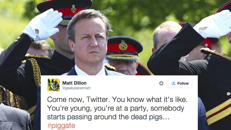 The British Prime Minister maybe put his genitals in a dead pig. Welcome to #PigGate.