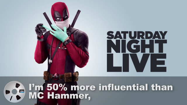 Deadpool (Ryan Reynolds) does a pitch-perfect mockery of Kanye West's backstage 'SNL' rant.