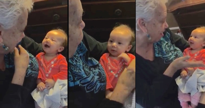 Grandma teaches deaf granddaughter to sign, and it's the sweetest thing you'll see all day.