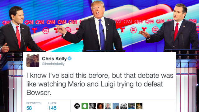 The 33 funniest reactions from comedians to the last #GOPdebate before Super Tuesday.