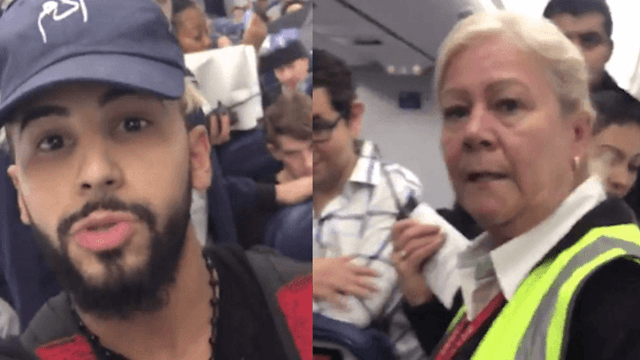 Delta defends crew against 'known prankster' who says he was kicked off plane for speaking Arabic.