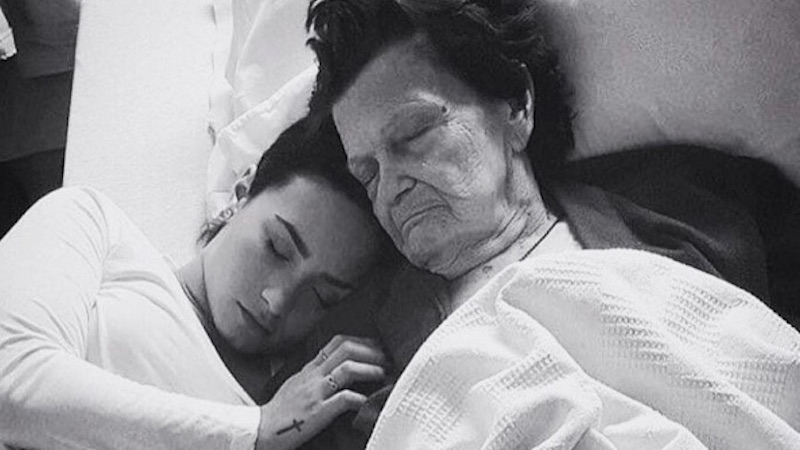 Fans respond to Demi Lovato's sweet, sad tribute to her recently deceased great-grandmother.
