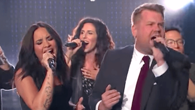 James Corden learns the hard way not to challenge Demi Lovato to a diva battle.