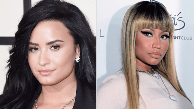 Nicki Minaj threw more shade than a beach umbrella at Demi Lovato in this Met Gala pic.