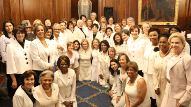 Here's why the Democratic women of Congress wore white for Trump's speech.