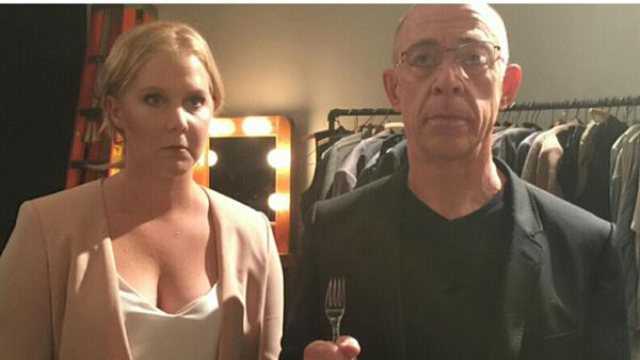 Did Amy Schumer plan her perfect tweet with J.K. Simmons for months?