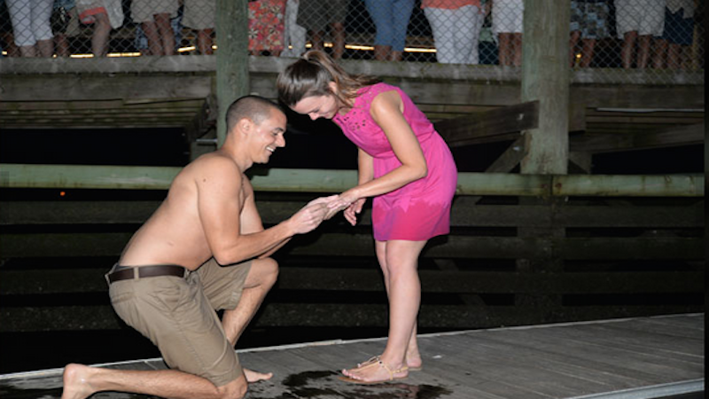 Did this couple pretend to lose their engagement ring so their proposal would go viral?