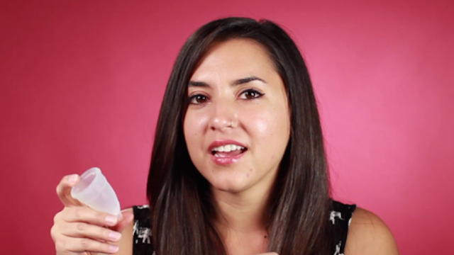 A bunch of Diva Cup 'virgins' tried out shoving a silicone cup inside themselves for the first time.