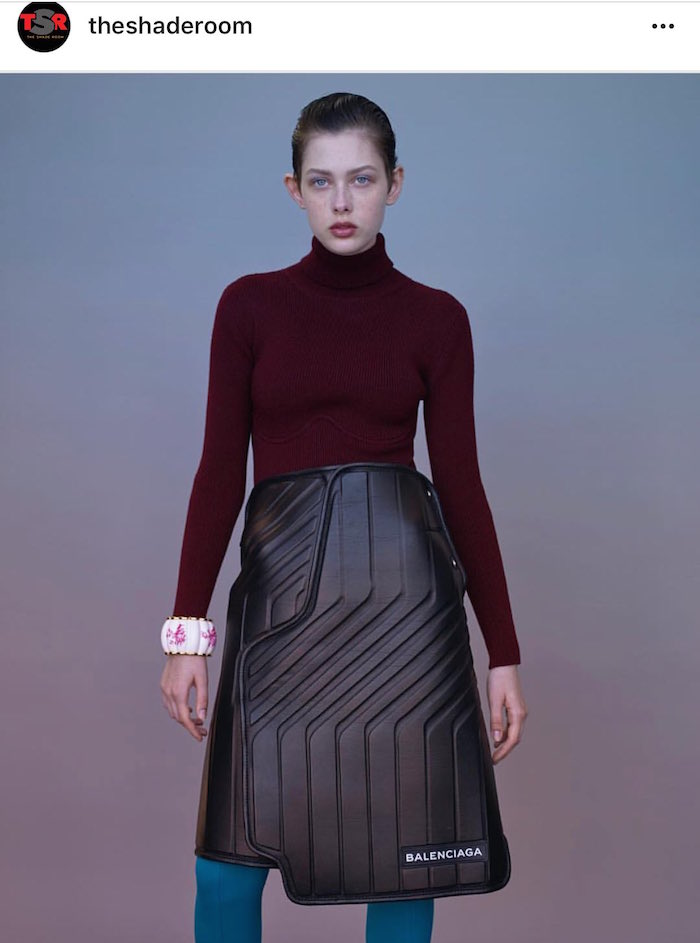 This $2000 skirt looks like something you'd find on the floor of your car. Twitter is disturbed.