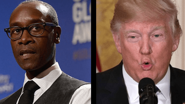 Don Cheadle accuses Donald Trump of using the N-word during fiery tweetstorm.
