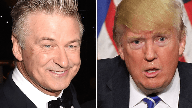 Alec Baldwin dredged up an ancient Trump tweet to burn him while accepting an Emmy.