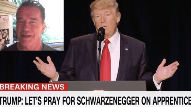 Arnold Schwarzenegger burns Trump so hard after being dissed at the National Prayer Breakfast.