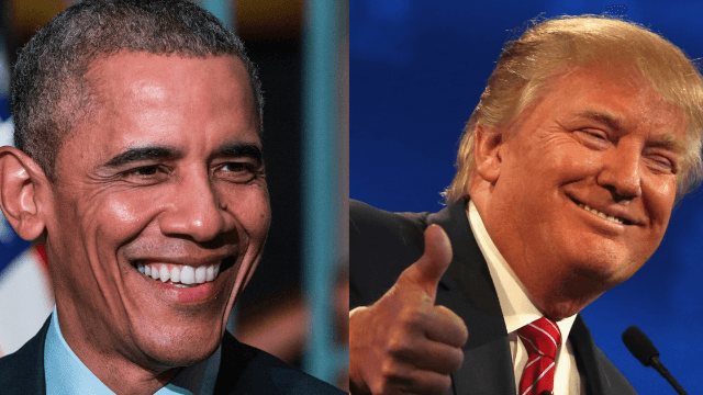 Donald Trump says he 'can feel' that Barack Obama likes him. Uh, sure.