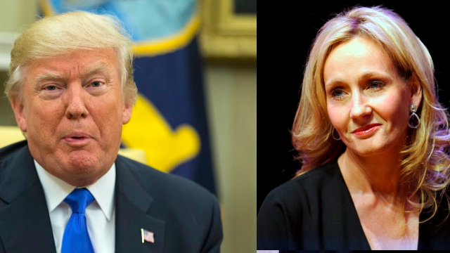 Donald Trump blocked Stephen King on Twitter and somehow JK Rowling is involved.
