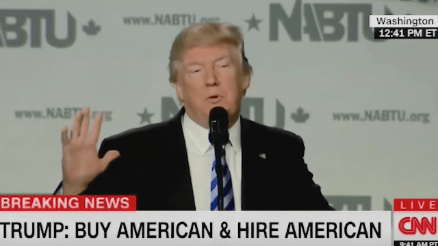 Donald Trump booed by construction workers after telling them how much they love him.