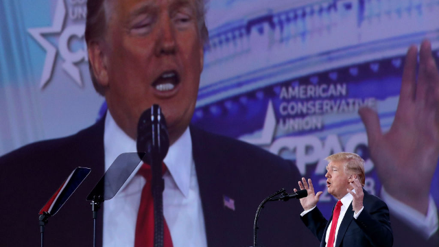 Trump finally acknowledged his bald spot during his CPAC speech. Twitter went to town.
