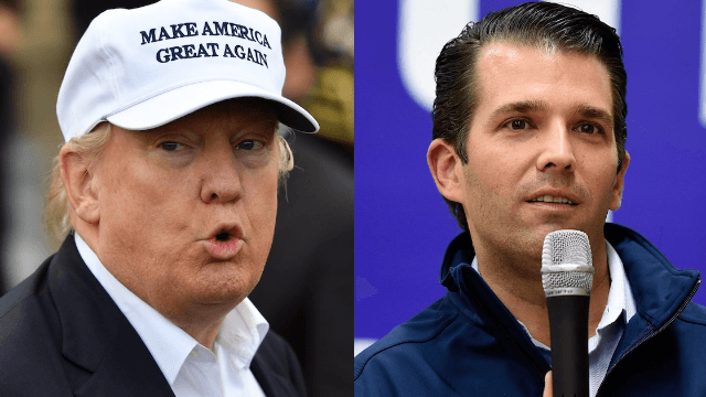 Donald Trump defends Don Jr. from the 'Fake News Media' in morning Twitter rant.