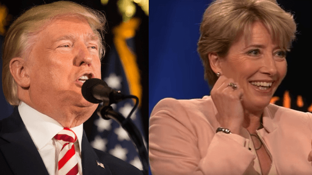 Donald Trump once asked Emma Thompson out in the weirdest way.