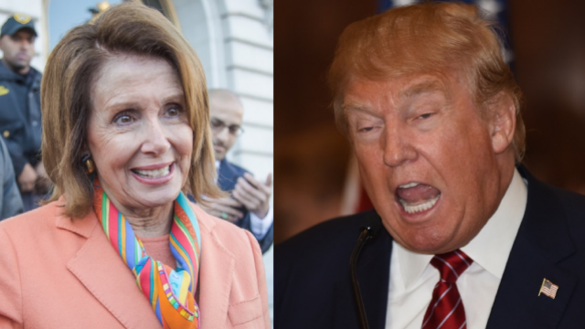 Trump officially folds 'like a cheap suit' to Nancy Pelosi. The internet is gloating.