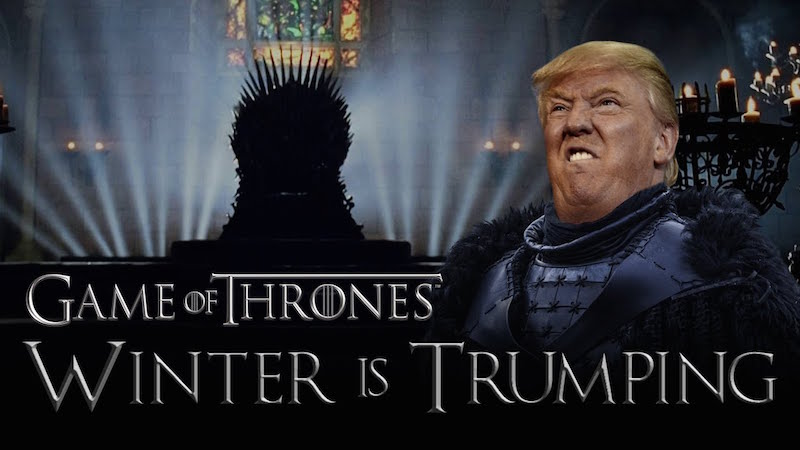 Donald Trump is every jerk in the 'Game of Thrones' spoof 'Winter Is Trumping.'