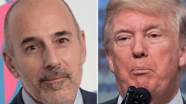 Trump immediately tweeted about Matt Lauer's firing. The internet immediately tweeted back.