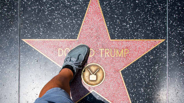 Someone destroyed Donald Trump's Hollywood Walk of Fame star and the internet is rejoicing.