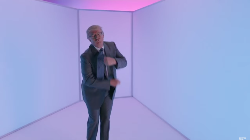 Donald Trump dances like Drake, an immigrant from a neighboring country, on 'SNL.'
