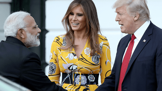 Donald Trump met the Indian Prime Minister and instantly lost another handshake game.