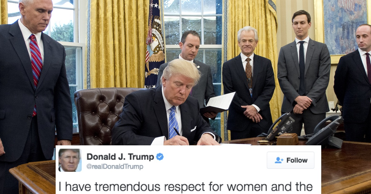 Donald Trump Tweeted About International Women's Day. Big ...