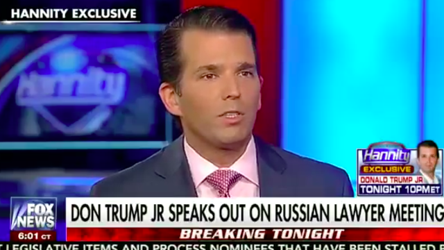 Donald Trump Jr. went on TV to talk about Russia, and Twitter couldn't handle it.