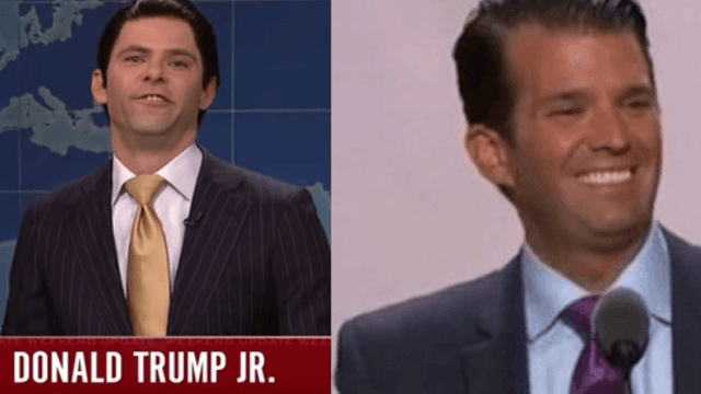 Donald Trump Jr. has a much better reaction to SNL's impression of him than his dad does.